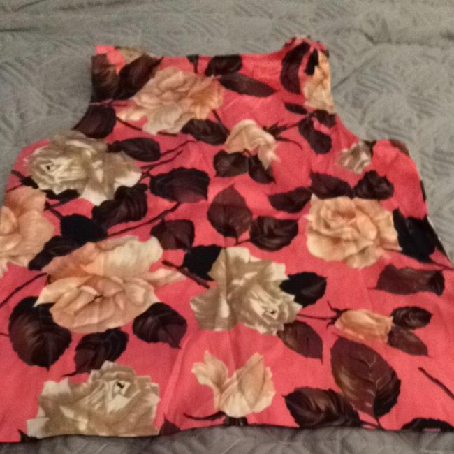 Talbots Top Pinks Maroon And Cream