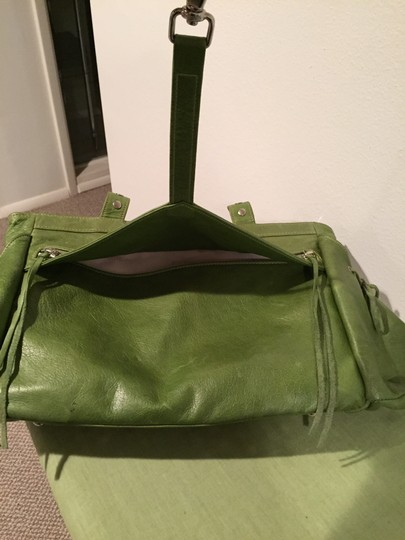 Botkier Leather Satchel in Green