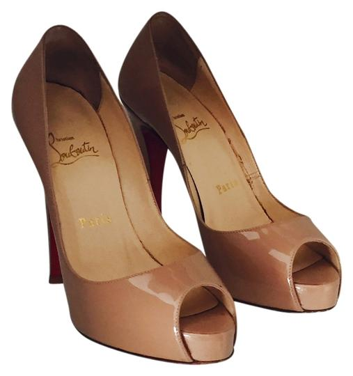 Preload https://item5.tradesy.com/images/christian-louboutin-very-prive-tan-pumps-size-us-55-2302604-0-2.jpg?width=440&height=440