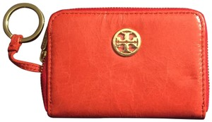Tory Burch Tory Burch Orange Robinson Zip Coin, Key & Card Case NWT