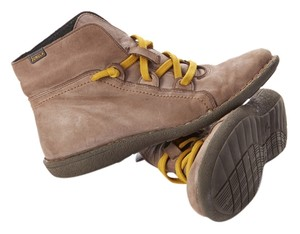 Jungla Ankle Spanish Leather Taupe/Yellow Boots