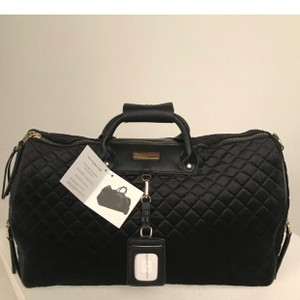 Adrienne Vittadini Duffle Quilted Black Travel Bag