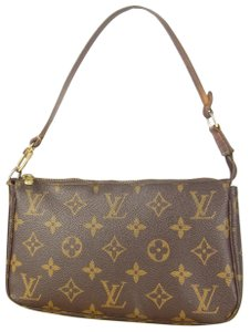Louis Vuitton Leather Monogram Luxury Limited Edition brown Clutch