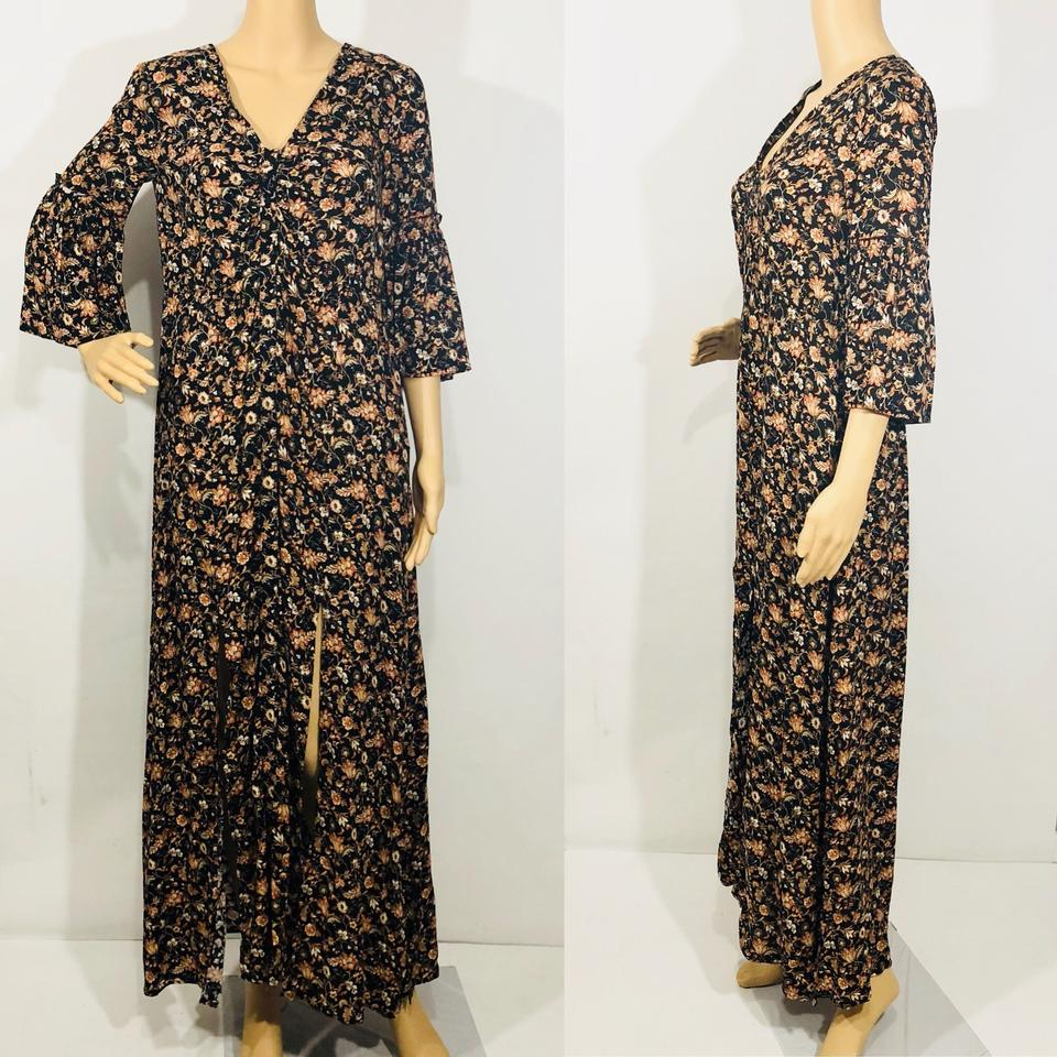 008739c08aa Zara Floral Long Sleeve Maxi Dress