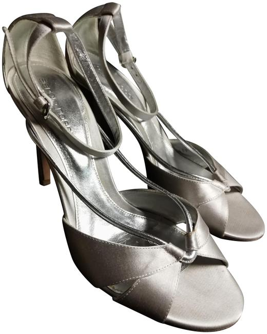 Item - Silver Made In Italy Satin Sandals Size EU 38 (Approx. US 8) Regular (M, B)