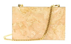 Stella McCartney Stone Chain Blush Clutch