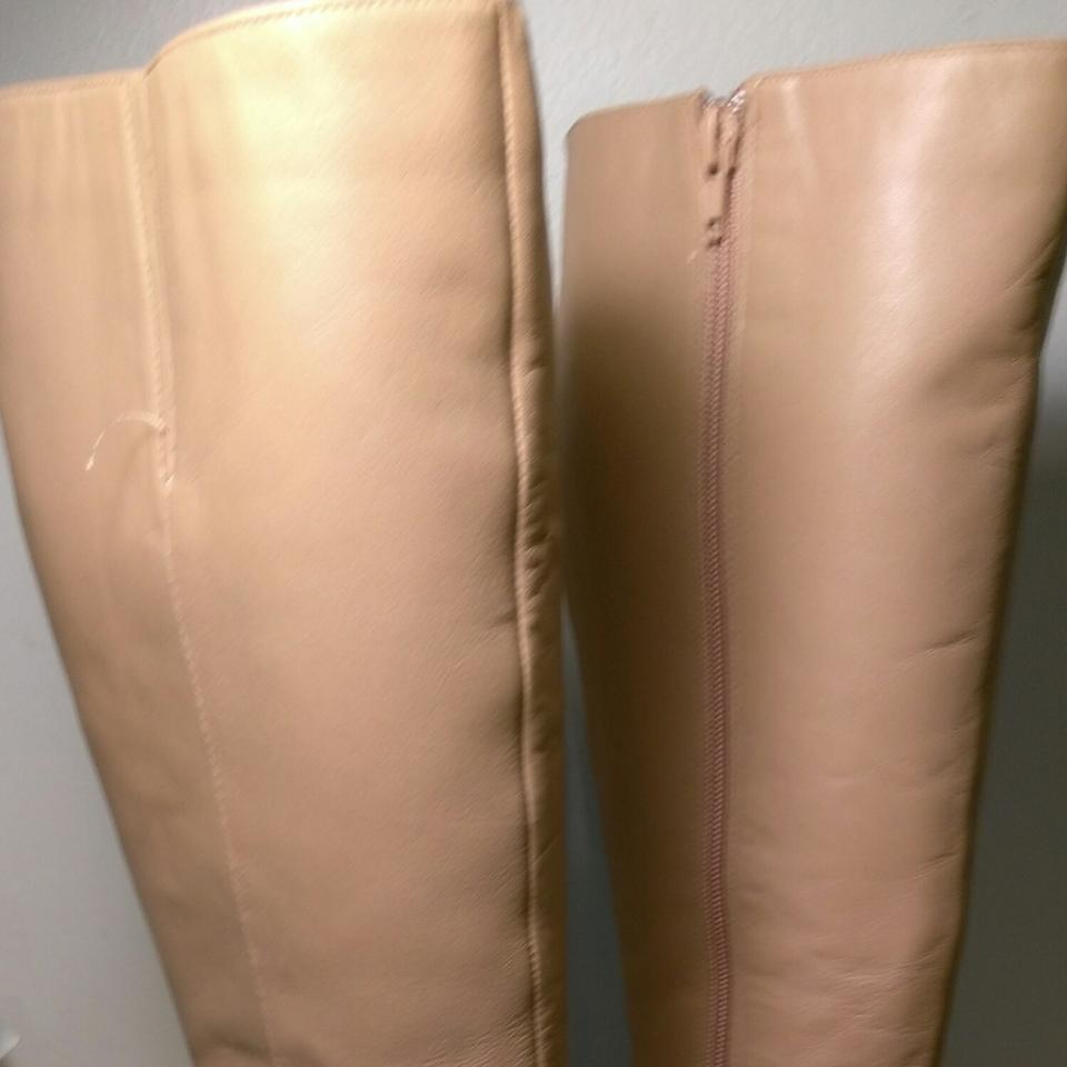 59ac06c3aee Naturalizer Camel Shade Colored Leather Knee High   Zipper Boots Booties  Size US 7 Extra Wide (Ww