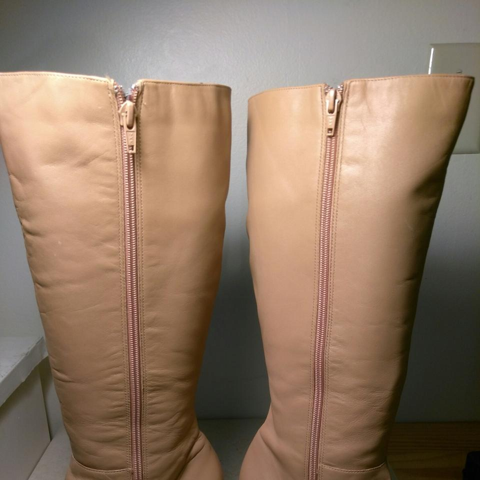 550dc1ec1e7 Naturalizer Camel Shade Colored Leather Knee High   Zipper Boots ...