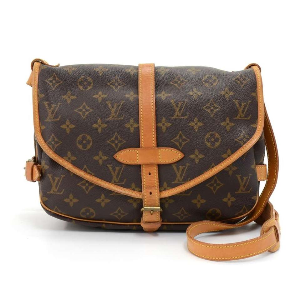 louis vuitton saumur vintage 30 monogram brown canvas shoulder bag tradesy. Black Bedroom Furniture Sets. Home Design Ideas