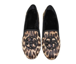 Tory Burch Slippers Natural Leopard / black Flats