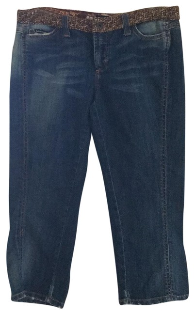 Item - Blue Denim Medium Wash Glamour Collection - Deluxe Capri/Cropped Jeans Size 30 (6, M)
