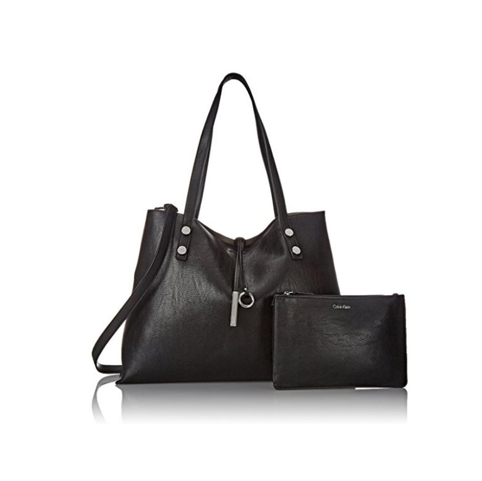 accf7dd624 Calvin Klein Sonoma Extra Large Reversible with Pouch Black Faux ...