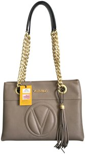 Valentino Leather W Chain Shoulder Bag