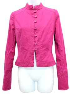DIANE VON FURSTENBERG Stretch Button Down 4 FUSCIA Blazer