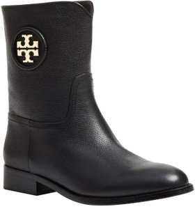 Tory Burch Hallie Leather Black Boots