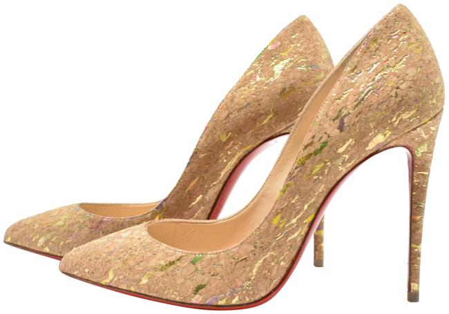 Christian Louboutin Multi Color Pigalle Follies 100mm Cork Pointed Toe Pumps Size EU 36 (Approx. US 6) Regular (M, B) Christian Louboutin Multi Color Pigalle Follies 100mm Cork Pointed Toe Pumps Size EU 36 (Approx. US 6) Regular (M, B) Image 1
