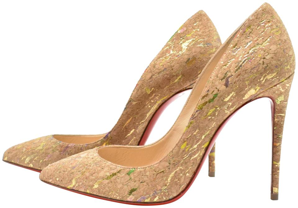 559bb7aca80f Christian Louboutin Multi Color Pigalle Follies 100mm Cork Pointed ...