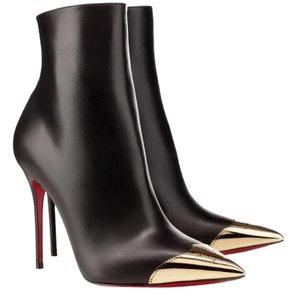 Christian Louboutin Black Gold Boots