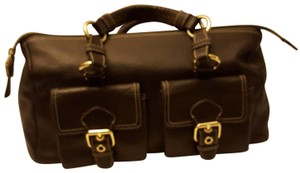 Talbots Leather Casual Satchel in brown