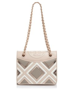 Tory Burch Fleming Geo- Leather Cross Body Bag