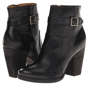 Frye Ankle Heel Leather Bootie Black Boots