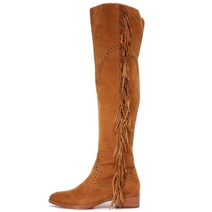 fd77ad1188d Frye Camel Brown Ray Over The Knee Fringe Boots/Booties Size US 7 Regular  (M, B) 57% off retail