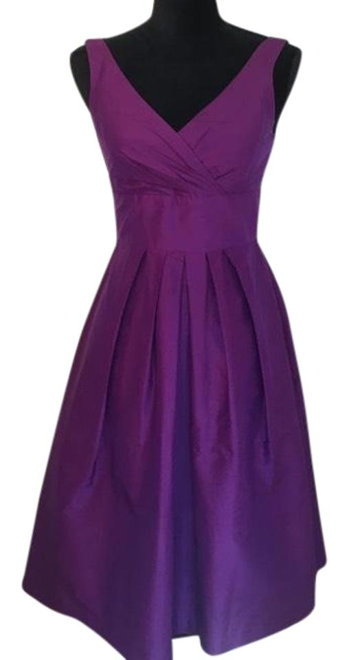 Suzi Chin for Maggy Boutique Purple Silk Cocktail Dress Size 0 (XS ...