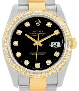 Rolex Rolex Datejust 36 Steel Yellow Gold Diamond Unisex Watch 116243