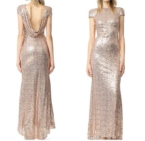 Badgley Mischka Rose Gold Badga30072 Formal Bridesmaid/Mob Dress Size 2 (XS)