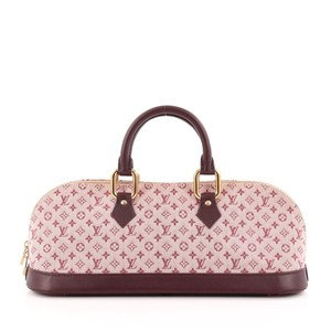 Louis Vuitton Sprouse Stephen Sprouse Limited Edition Denim Bordeaux Satchel in Burgundy x Pink