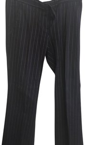 Theory Pinstripe Striped Boot Cut Pants Brown