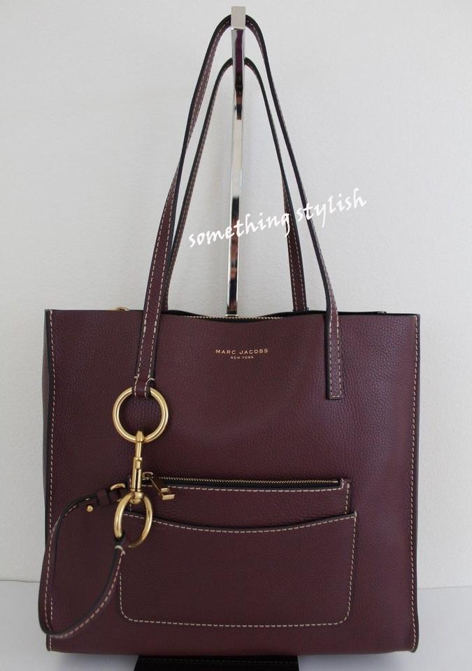 7f93137aa428 Marc Jacobs Bold Grind East   West Shopper Blackberry Leather Tote - Tradesy