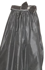 Nina Ricci Maxi Skirt black silk taffita