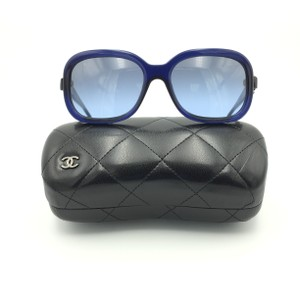 Chanel Bow Square Charms Patent Leather Square Sunglasses 5280 503/S2