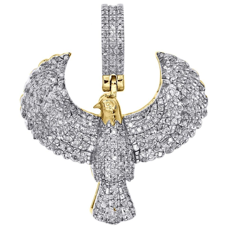 Jewelry for less yellow gold 10k diamond us flying eagle pendant jewelry for less 10k yellow gold diamond us flying eagle pendant 120 aloadofball Images