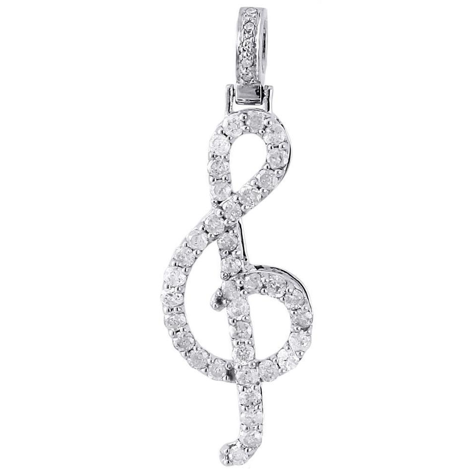 "1.5/"" Polished stainless steel Treble Clef Charm pendants-music symbol charm"