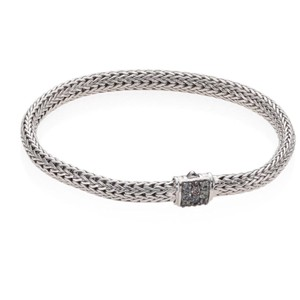 John Hardy Classic chain grey sapphire and sterling silver bracelet