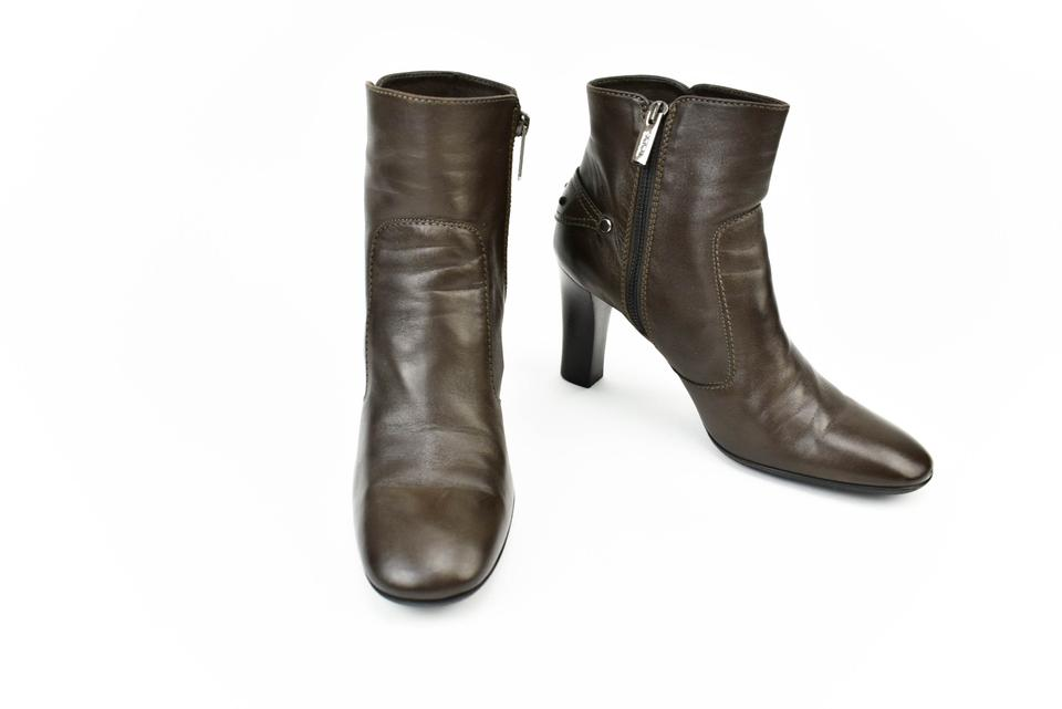 Tod's Dark Dark Tod's Brown Leather Short Boots/Booties 8d5cc0