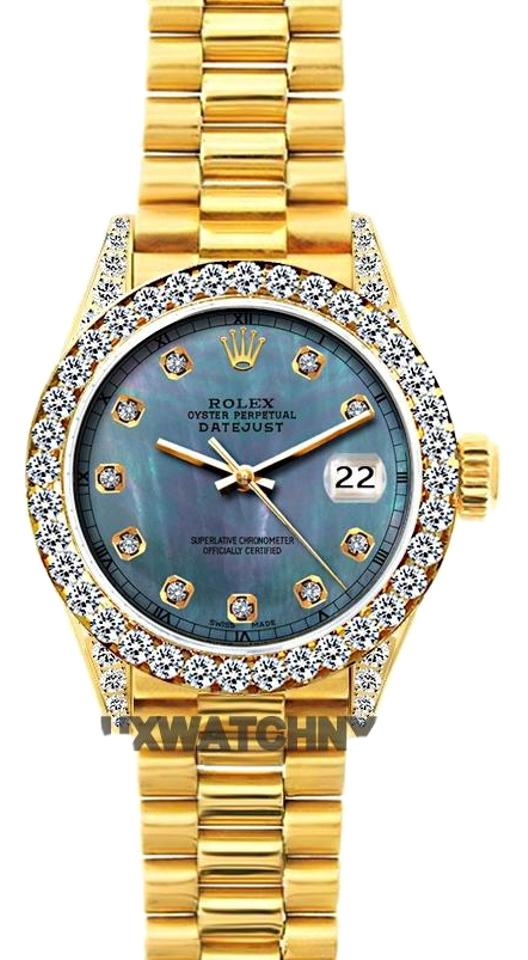 89ab53da1f6b Rolex 2ct 26mm President Datejust 18k Gold W  Box   Appraisal Watch ...