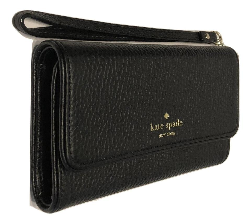 new product 10dd6 6c52d Kate Spade Black New York Chester Street Iphone 7 Wristlet Wallet Wlru4798  Tech Accessory 50% off retail