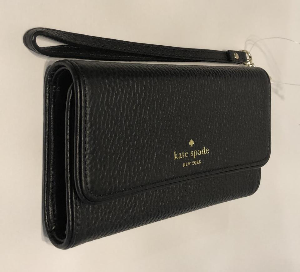 new product 1535a 3151f Kate Spade Black New York Chester Street Iphone 7 Wristlet Wallet Wlru4798  Tech Accessory 50% off retail