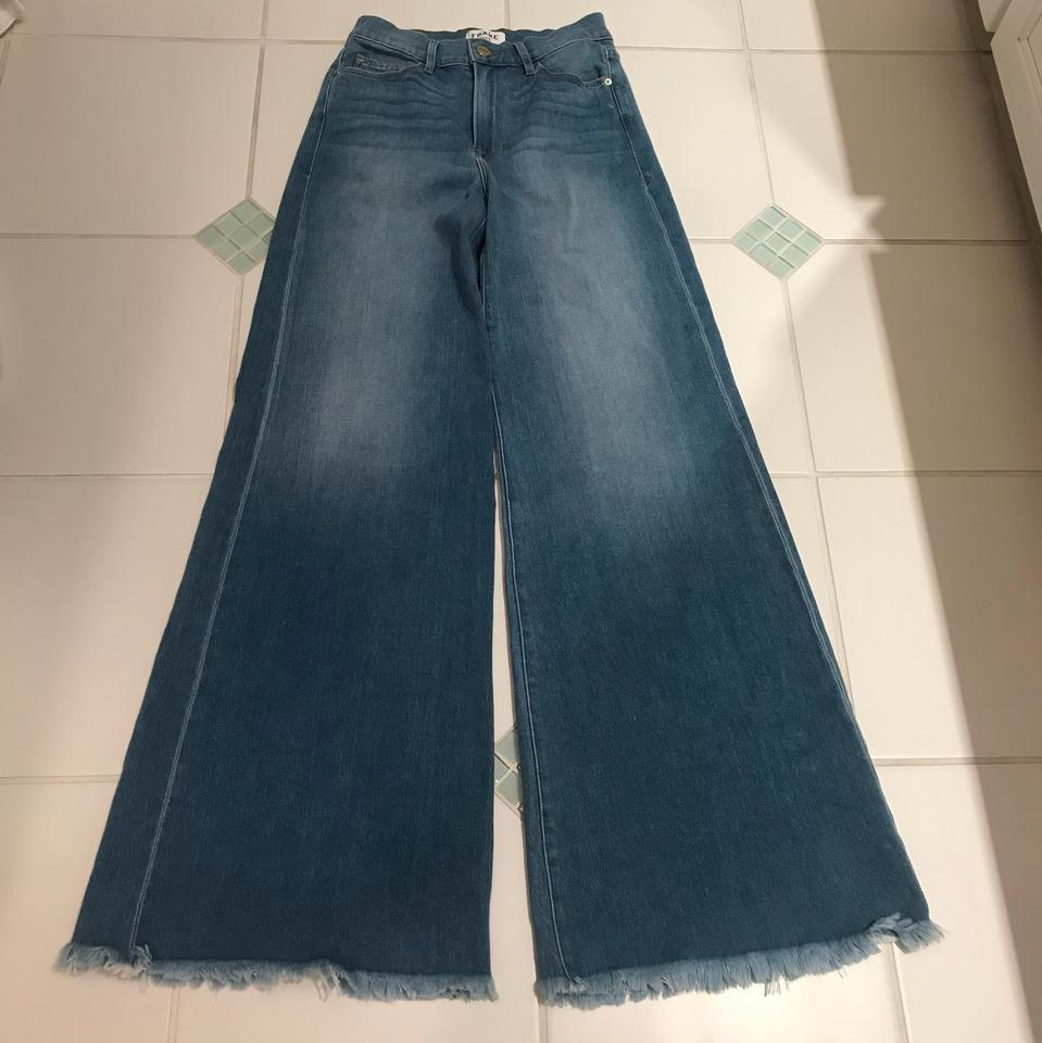 separation shoes bbfb5 e5eef FRAME Opus Medium Wash Palazzo Pant Flare Leg Jeans Size 27 (4, S) 86% off  retail