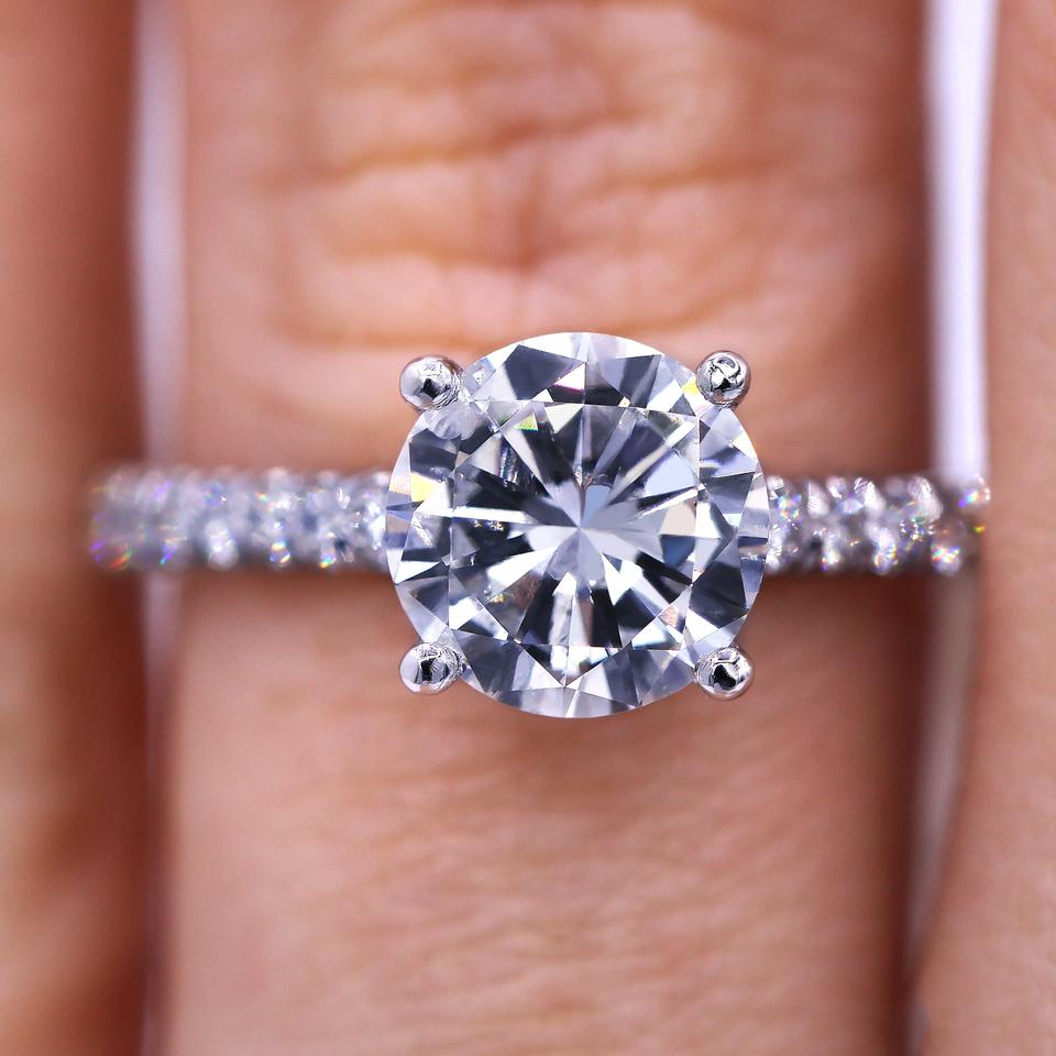 Stunning 1.67 Carat Round Shaped Diamond Engagement Ring - Tradesy