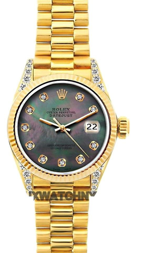 595d998971c6 Rolex 26mm President Datejust 18k Gold W  Box   Appraisal Watch ...