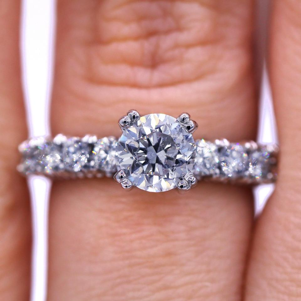 Custom Designed 1.08 Carat Round Cut Diamond Engagement Ring - Tradesy