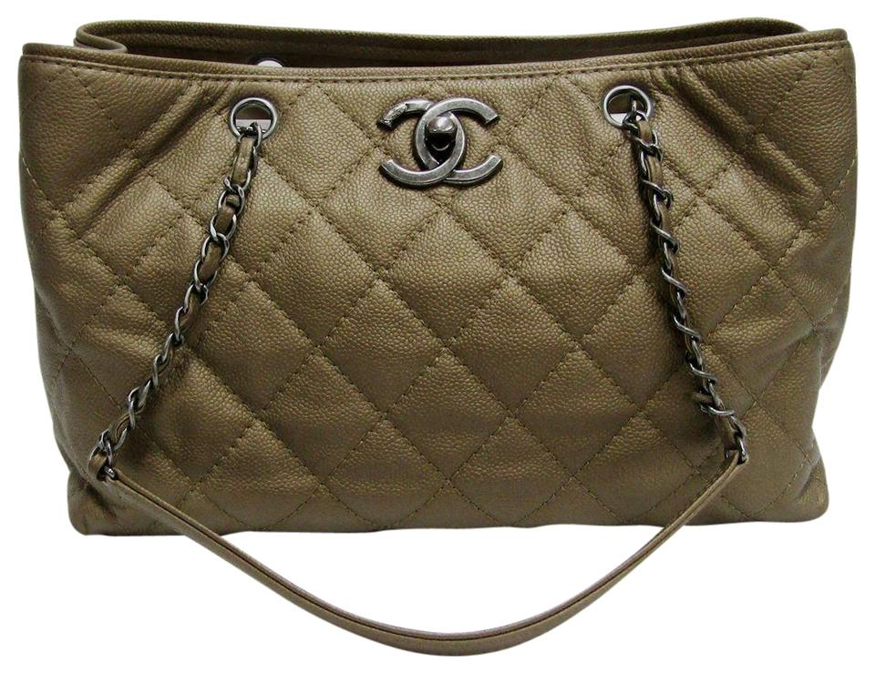 186d194317c6 Chanel Shopping Tote Zip Shopper 30cm Pebbled Caviar Quilted Dark ...