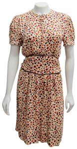 Stella McCartney short dress multicolor Belted Polka Dots Button Down on Tradesy