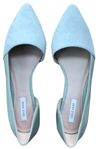 Cole Haan Gray and Mint Flats