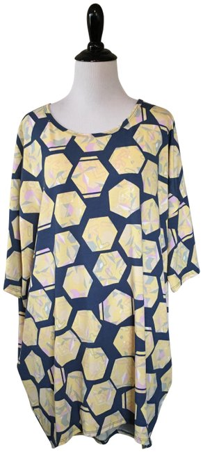 Item - Blue and Yellow Irma Tunic Size 18 (XL, Plus 0x)