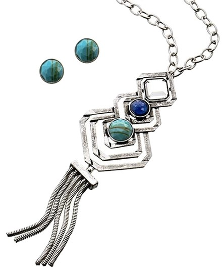 Preload https://img-static.tradesy.com/item/2302984/mia-multi-color-acrylic-and-earrings-necklace-0-0-540-540.jpg